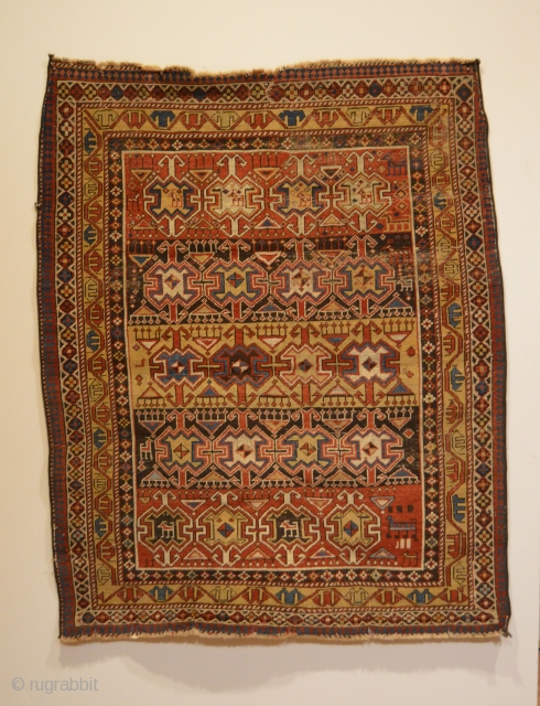 Rare Animal/Amulet Shirvan Rug - East Caucasus.  Circa 1880.