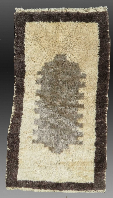 Anatolian 'Sleeping Rug' or Yatak/Tulu, mid 20th C., 3' x 6'  Good condition, no holes or repair  $750 domestic USA shipping included