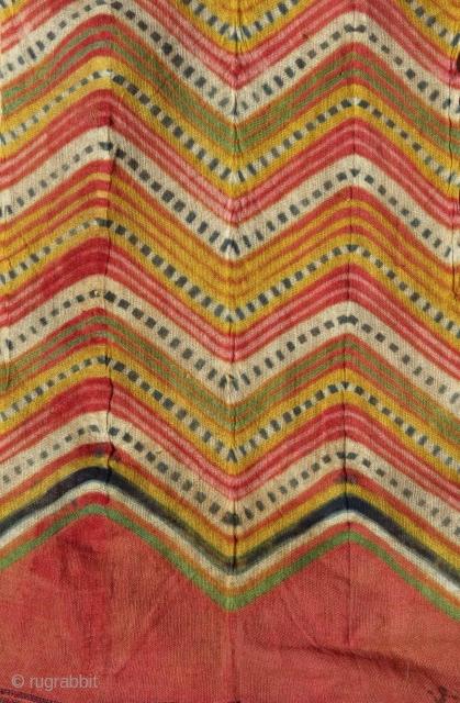 Detail - Complete turban, tie dye technique, N. India