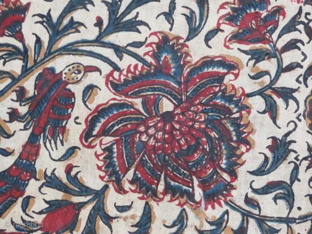 "Detail - ""Kalamkari"" cotton textile, east India, complete (no damage), 19th c."