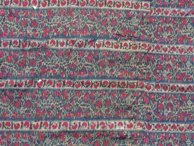 Fragment - Wool textile, Kashmir.