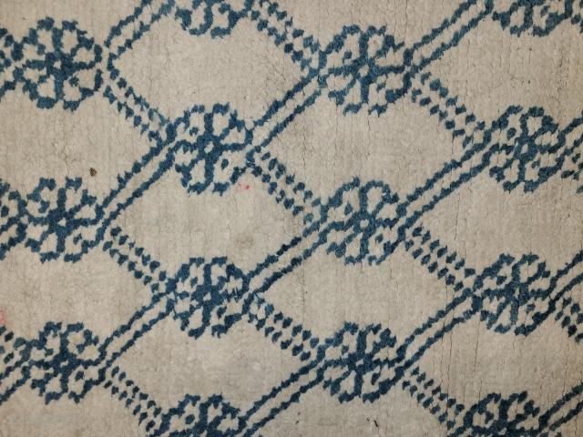 Agra Carpet.  Cotton pile.  48 x 80 Circa 1920