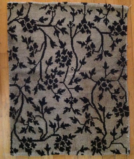 Low pile, interesting graphic Tibetan sitting mat  Circa 1900 22 x 27 inches
