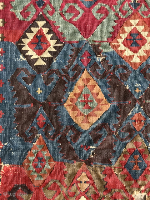 central anatolian kilim fragment, mid 19th century,161 x 76 cm