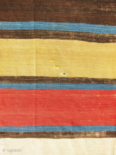 One of the most gorgeous, colorful and antique strips Shahsavan killim that I have ever seen. I believe it is from the early 19th century with extremely gorgeous, bright and vibrant vegetable  ...