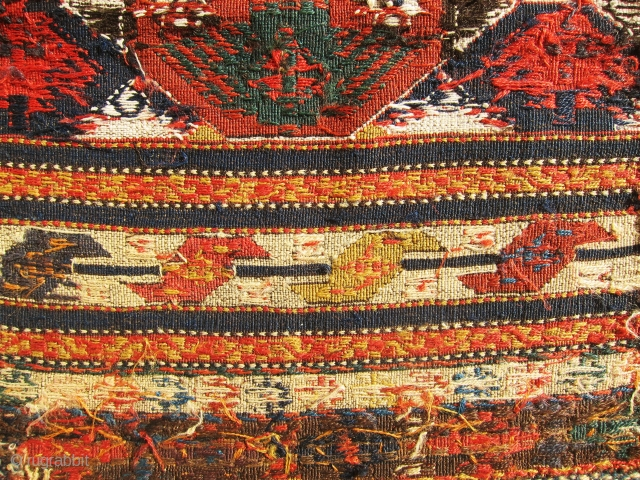 Extremely rare antique, colorful and authentic Shahasan sumac bag face. It is colorful piece and all colors are natural, check the weaves it is absolutely fine and tight. Top collector item at  ...
