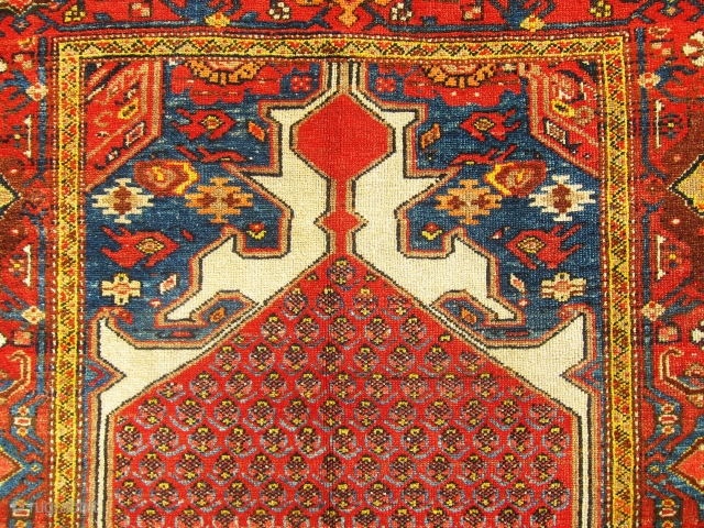 """Great, antique Hamedan rug, awesome colors and very nice piece. Size 6'-3""""x3'-7"""""""