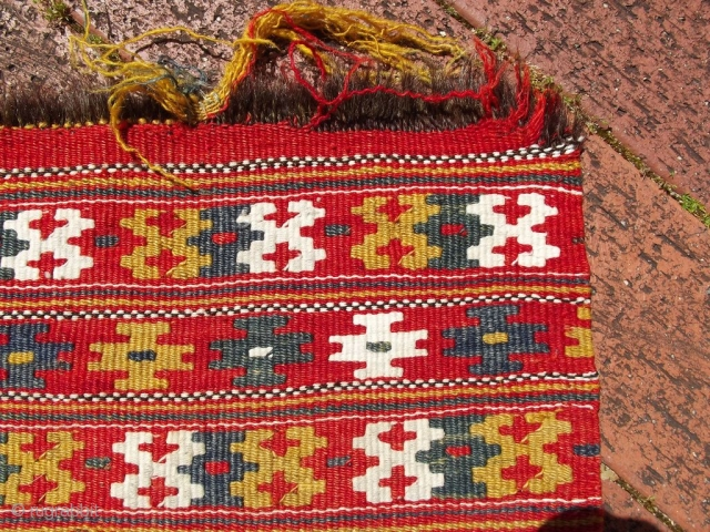 OK, so I have been told this is a Croatian Dinaric woman's apron (see link below).. very interesting!   http://folkcostume.blogspot.co.uk/2011/10/north-dinaric-womans-costume-of-vrlika.html approx 70cm x 47cm   Ends need securing.