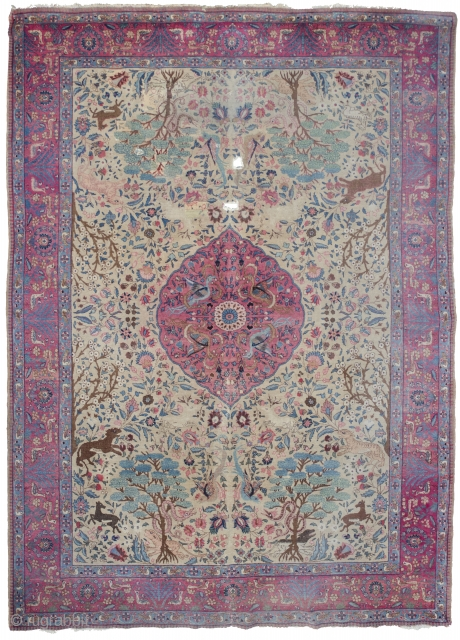 Large Antique Tabriz medallion rug, about 12 m2.