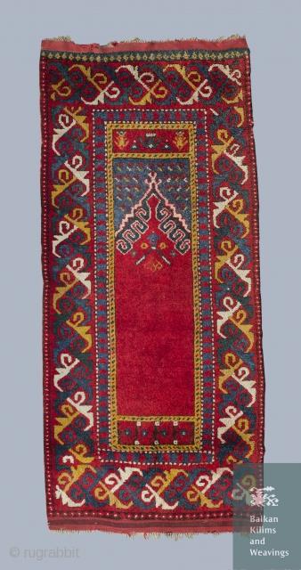 Balkan area, prayer rug. Early to mid. 20 century.