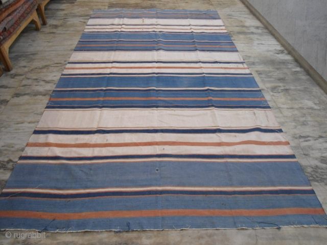cotton Dhurrie, India 6'.7''x11'.6''