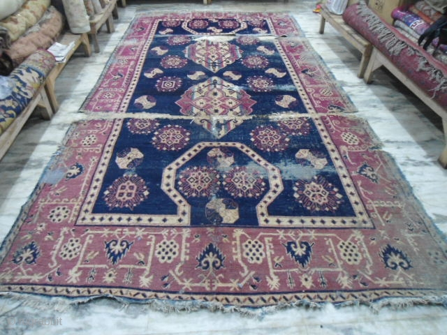 19th century Khotan large rug