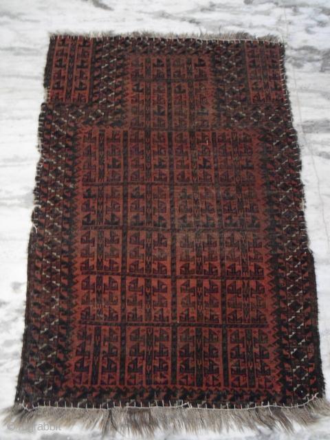 antique baluch prayer rug   size : 3'x5' Approx.