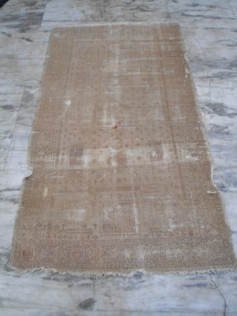 antique Amritsar rug early 20th century