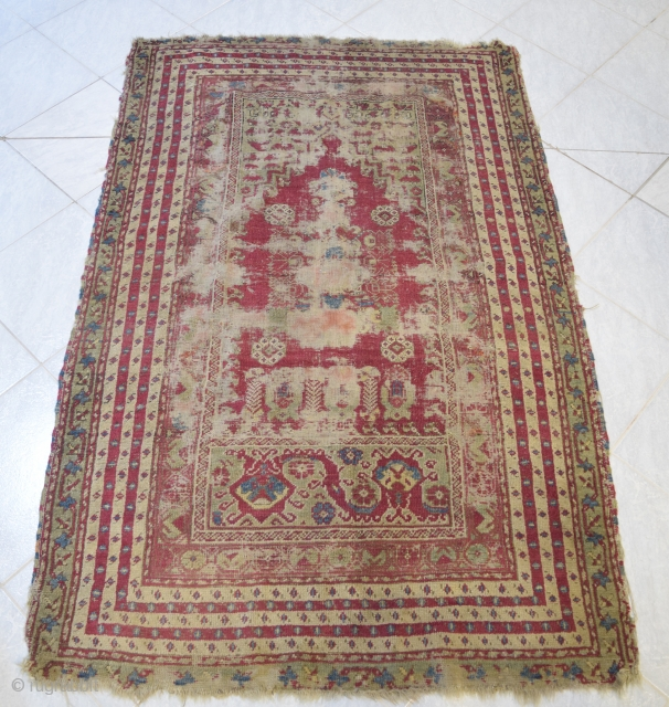 XIX. century Gördes Prayer rug. Can ship it from Budapest, Hungary or you can pick it up personally in my shop. I can send you more pictures. Please email me for more  ...