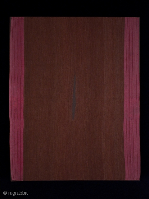 """Kawa ponchito (small poncho), Aymara culture, Southern Altiplano region, Bolivia. Camelid wool yarns (alpaca, llama and vicuna), natural dyes. Late 18th century or before. 47"""" (119.4 cm) high by 37"""" (94 cm) wide. Three small restored holes,  ..."""