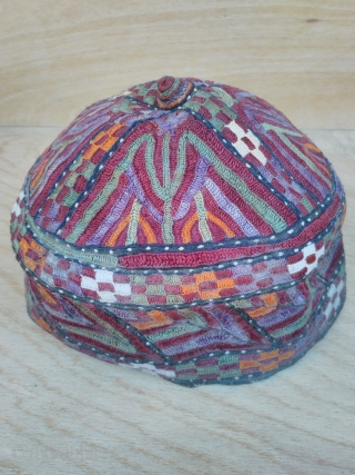 Turkmen hat 19th century silk embroidery good condition