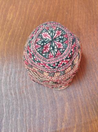 Turkmen hat silk embroidery 20 th century good condition