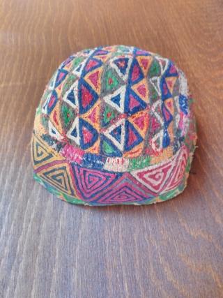Turkmen hat Silk embroidery 20th century