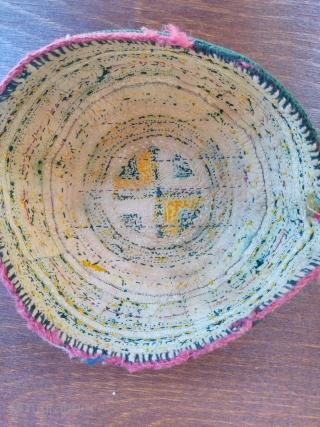 Turkmen hat 20th century silk embroidery good condition