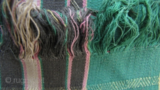 Tiddim Woman's Blanket: Rare Zo/Tedem blanket. The Tedum aka Tiddim are a subgroup of the Chin, who live in Northern Burma, Chin State, bordering India. This piece is circa 1950-1960, spun from  ...