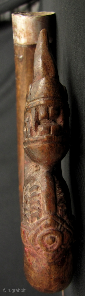 """)ld rice sickle from Cambodia with decorative mystical serpent """"Naga"""" head. This is pre Khmer Rouge circa 1950s to 1960s. Overall good condition: blade is still sharp but could use a good  ..."""