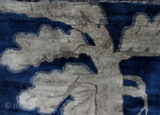 Stunning Tiger Rug, Baotou, Nei Mongol, China. Circa late 19th/early 20th century. 160cm x 90cm. Nice abrash. Some small old repairs, please see last enlargements for close ups. The selvedge on one  ...
