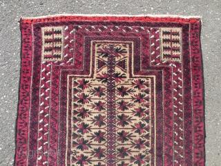 Antique Baluch prayer rug 86x160 cm