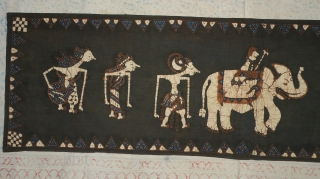 Javanese Batik Wall Hanging 1940-1960,50 x 182cm