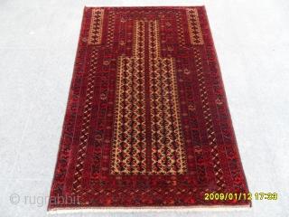 Beluch Prayer rug size: 135x88 cm.