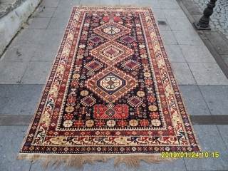 Antique Caucasian Shirvan Şahnazar Carpet Perfect size: 282x152