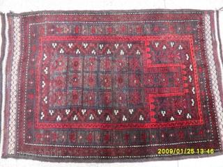 Antique Türkmen Baluch Prayer Carpet Perfect size: 105x85 cm.