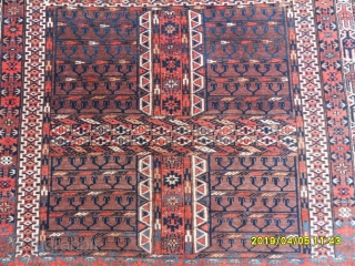 Antique Türkmen Ensi Carpet perfect size: 158x156