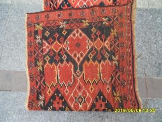 Antique türkmen Beshir torba size: 168x63