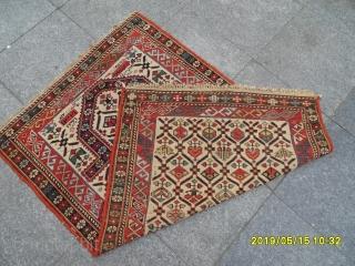 Antique Caucasian Şirvan Marashali Prayer Carpet size: 129x85