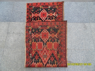 Antique Türkmen Beşir ersari torba very nice piece perfect natural colors Size 170x60