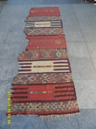 Antique Anatolian Fragment Kilim size: 270x90 cm.