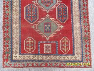 Antique Caucasian Kazak Fahrola size: 115x105 cm.