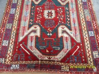 Antıque Caucasian Sevan Kazak perfect size: 225x156 cm.