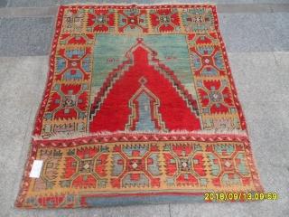 Antique Capadocia Double Prayer Carpet size:186x126