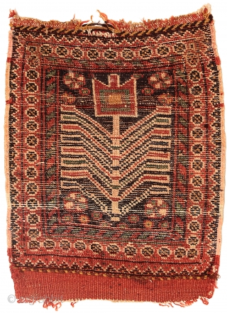 Pile bag face, Afshar tribe, Southern Persia, Circa 1900, 43 x 35 cm (17 x 14 in.) 