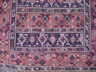 Caucasian Sumak Horse Cover, Shirvan area, possibly Marasali, circa 1880. Mint condition. All natural colours.