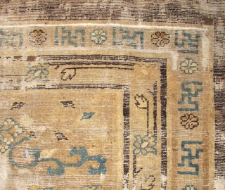 Fragment of a carpet with lotus flowers
