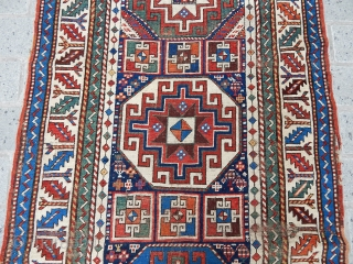 Antique Gence Mogan Rug  size.257x106 cm