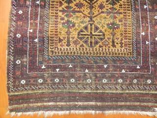 Antique Baluch Prayer Rug  Size.186x105cm