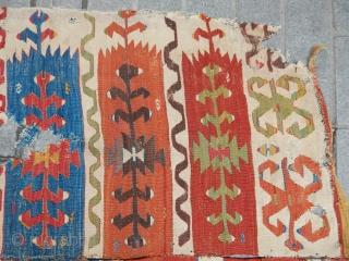 Antique Anatolian Cappadocia Kilim size.420x155cm  www.anatolianpicker.com