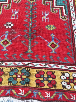 Antique Anatolain Konya Prayer Rug