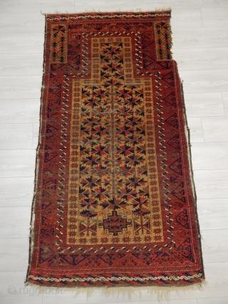 Antique Baluch Prayer Rug