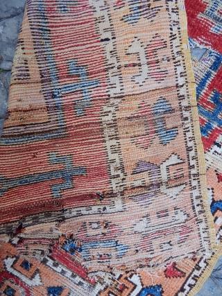 Antique Anatolian Cappadocia Rug Fragment