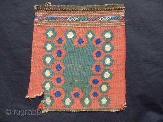 Antique Caucasian Borjalı Kilim Bagfaces
